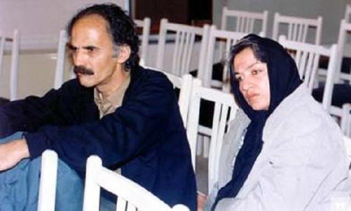 هوشنگ گلشیری و فرزانه طاهری همسرش