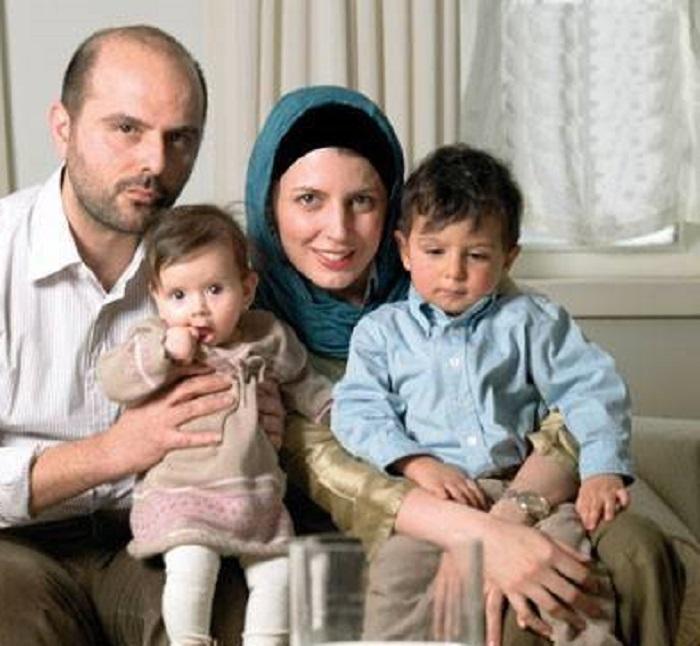 علی مصفا لیلا حاتمی و دو فرزندش