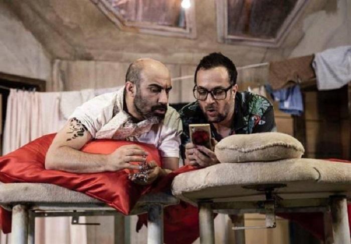 احمد مهرانفر و محسن تنابنده در نمایش مولن روژ