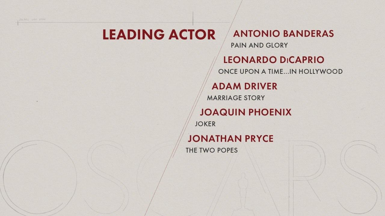نامزدهای اسکار 2020 بهترین بازیگر مرد