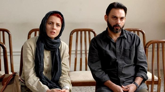 لیلا حاتمی به همراه پیمان معادی در فیلم جدایی نادر از سیمین