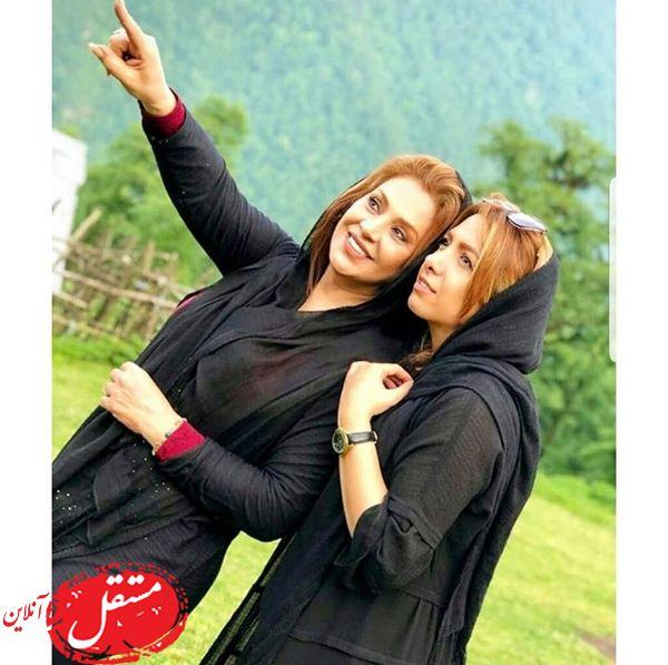 نسرین مقانلو و خواهرش در شمال + عکس