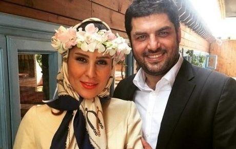 سام درخشانی عکس های لو رفته از مراسم ازدواج  و همسرش +تصاویر