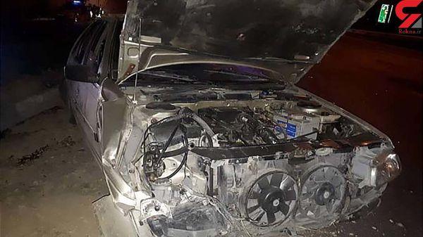 تصادف شدید در بزرگراه فتح + عکس