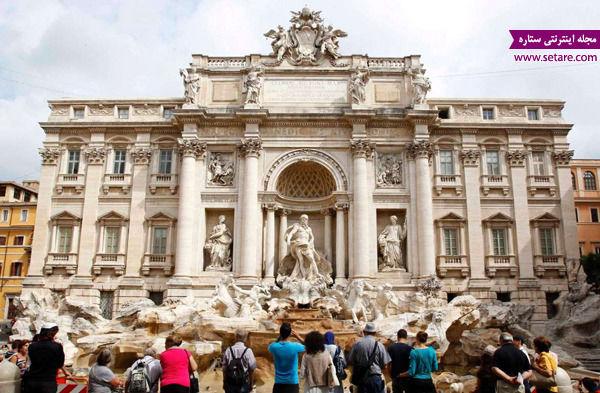 آبنمای تروی، رم، ایتالیا، دیدنیهای ایتالیا، فواره، افسانههای باستانی رم
