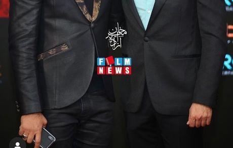 آقای خواننده و بازیگر در کنار چشم آبی خوشتیپ + عکس