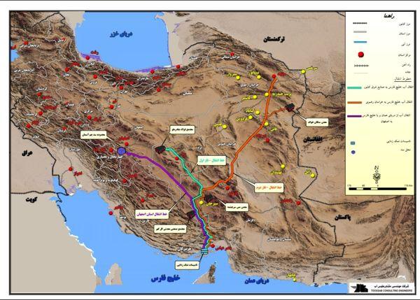 انتقال ۵۵۰میلیون متر مکعب آب شیرین در پروژه ملی انتقال آب خلیج فارس به فلات مرکزی ایران