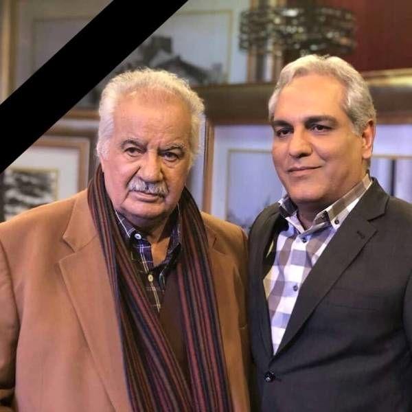 مهران مدیری در کنار مرحوم ناصر ملک مطیعی