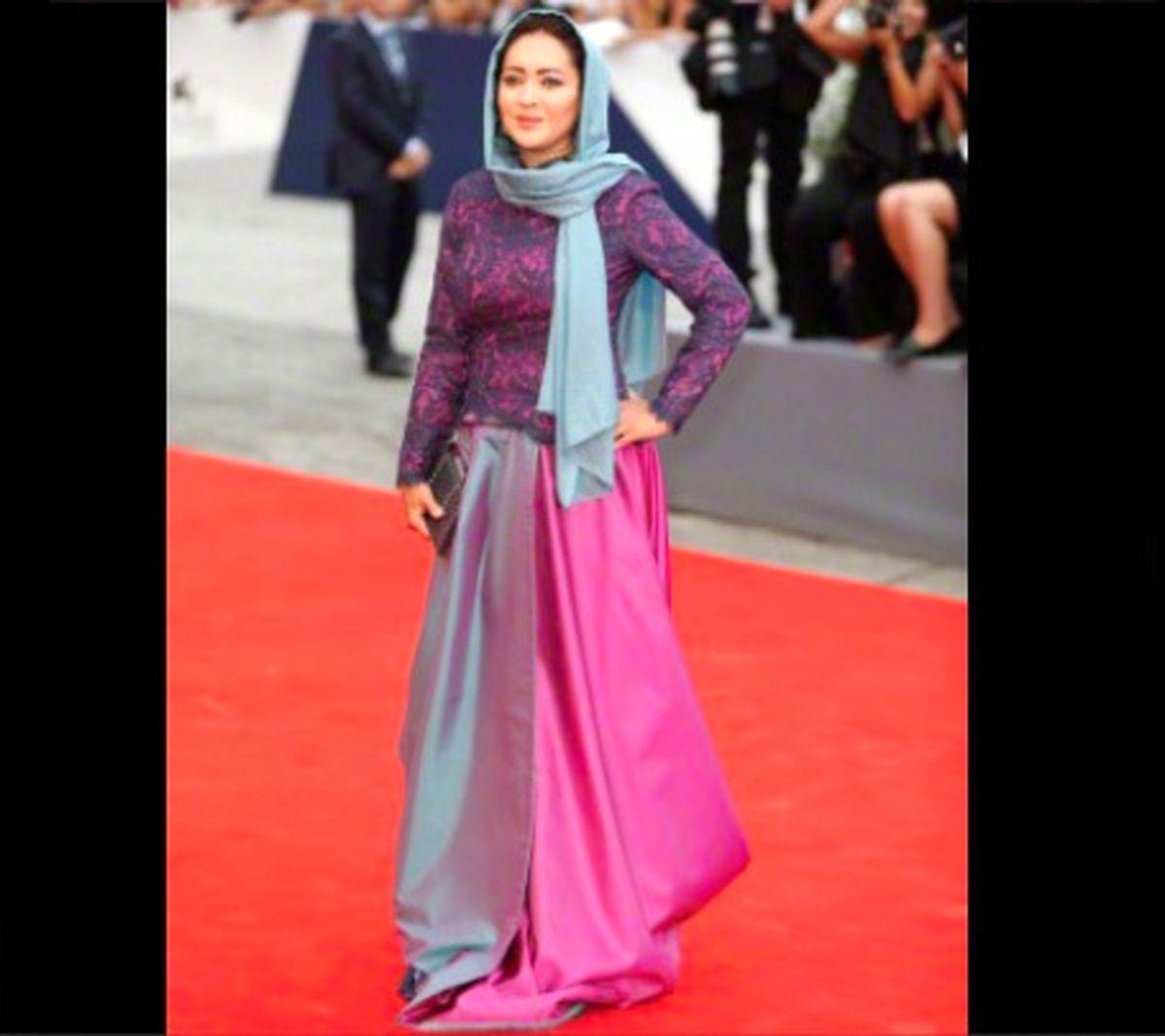 لباس شیک نیکی کریمی در جشنواره بین المللی+عکس | نشان آنلاین