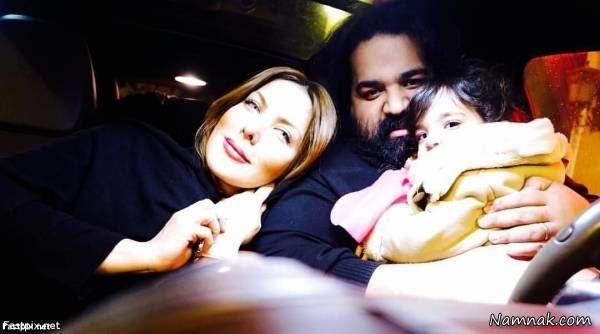 رضا صادقی و همسر و دخترش