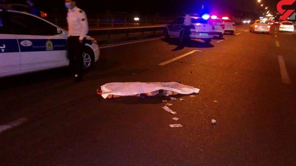 عکس جنازه مرد تهرانی وسط خیابان / شب گذشته رخ داد
