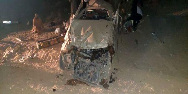 حادثه واژگونی خودرو در سیرجان 2 کشته و 9 زخمی بر جای گذاشت
