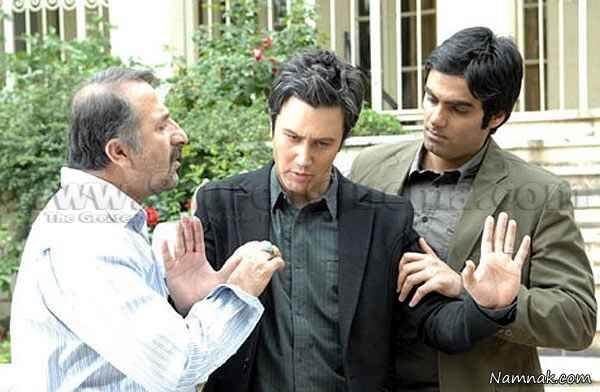 شاهرخ استخری و مهران رجبی در فیلم پس کوچه های شمرون