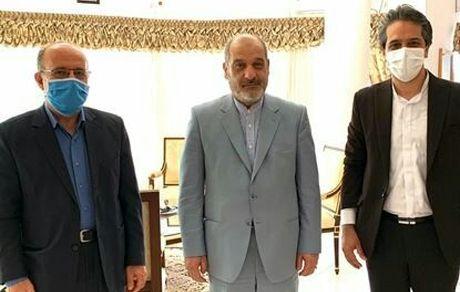 دیدار مسئول نظارت و بازرسی شورای نگهبان شهرستان با مدیرعامل سازمان منطقه آزاد قشم