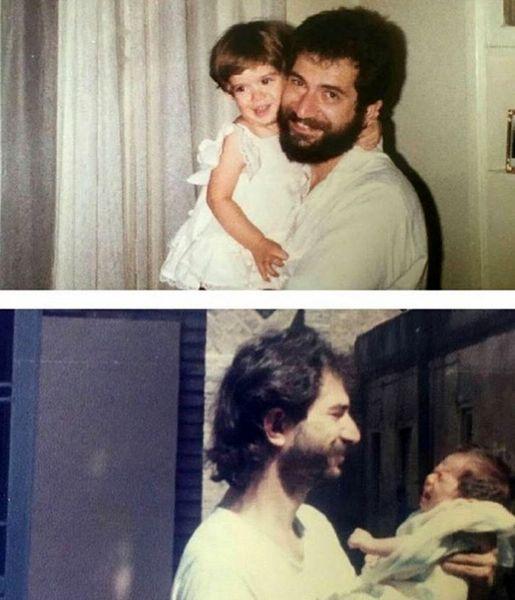 کودکی ستاره پسیانی در آغوش پدر + عکس