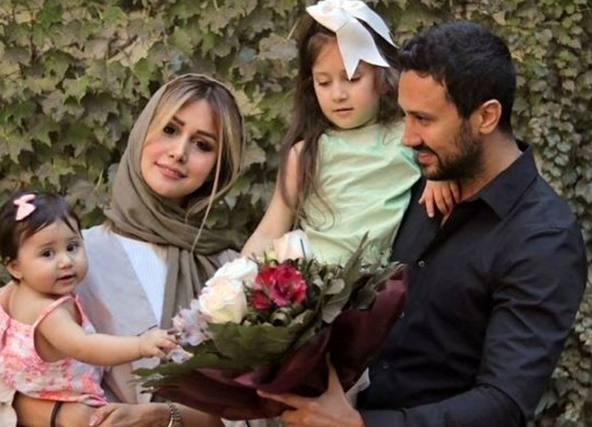 عاشقانه های شاهرخ استخری و همسرش در روز ولنتاین + عکس