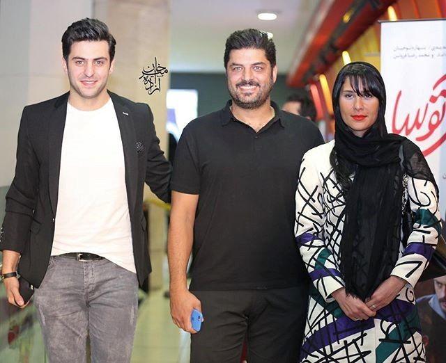 سام درخشانی و همسرش در کنار علی ضیا