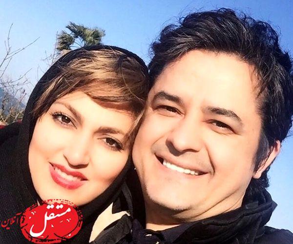 آقای بازیگر خوش صدا و همسر زیبایش + عکس