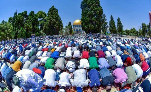نماز عید قربان در مسجدالاقصی