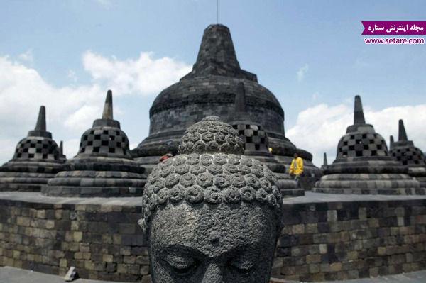 معبد برودوبور، اندونزی، کامبوج، بودا، مجسمه بودا