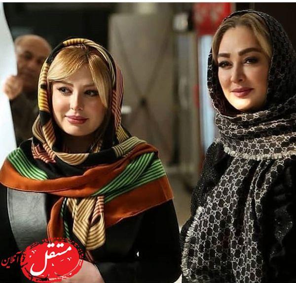 نیوشا ضیغمی در کنار خانم بازیگر مشهور + عکس