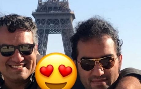 رضا یزدانی و سام نوری در پاریس  + عکس
