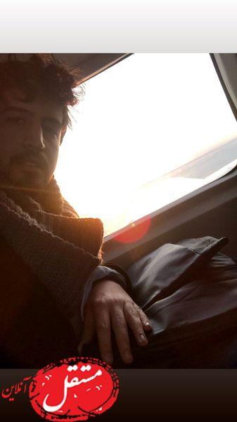 طلوع آفتاب در ماشین مهرداد صدیقیان + عکس
