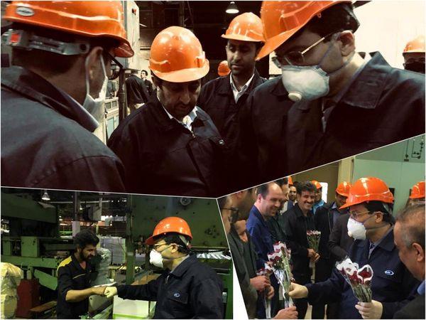 دیدار مدیرعامل شستا با کارگران پالایشگاه روغنسازی ایرانول