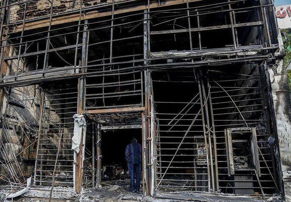 اغتشاشگران بیش از ۷۰۰ بانک آتش زدند