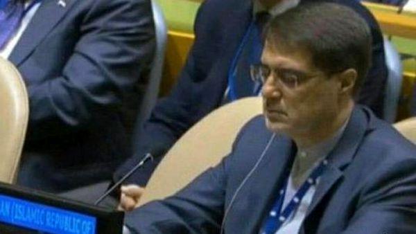 تنها ایرانی حاضر در سخنرانی ترامپ در سازمان ملل + عکس