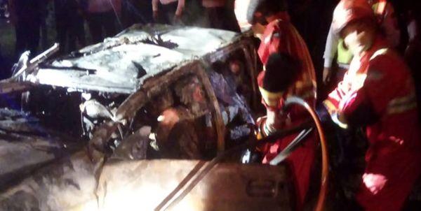 5 کشته در تصادف مرگبار گیلان+فیلم