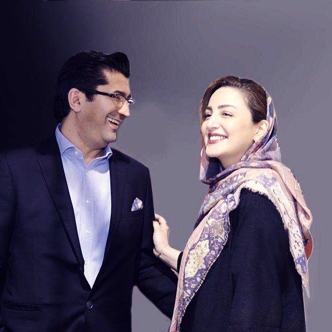 عکس  چهره خندان شیلا خداداد و همسرش