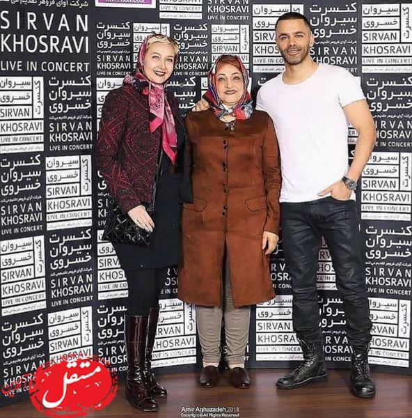 سیروان خسروی و مادرش در کنار کتایون ریاحی + عکس