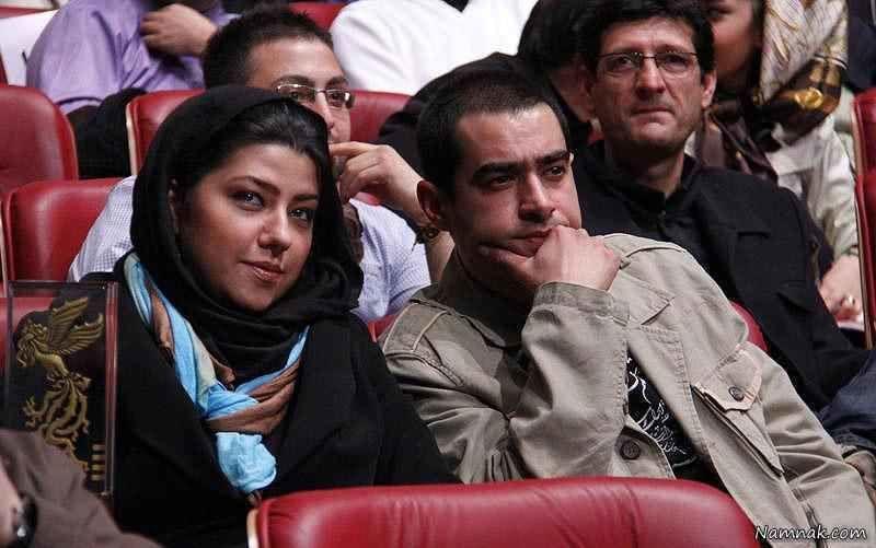 شهاب حسینی در کنار همسرش