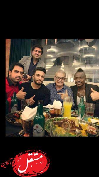 شام ویژه حمید لولایی با دوستانش + عکس