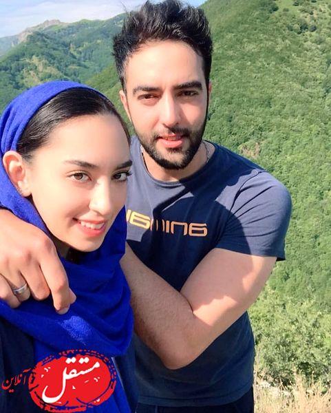عاشقانه های کیمیا علیزاده و همسرش قبل از مهاجرت + عکس