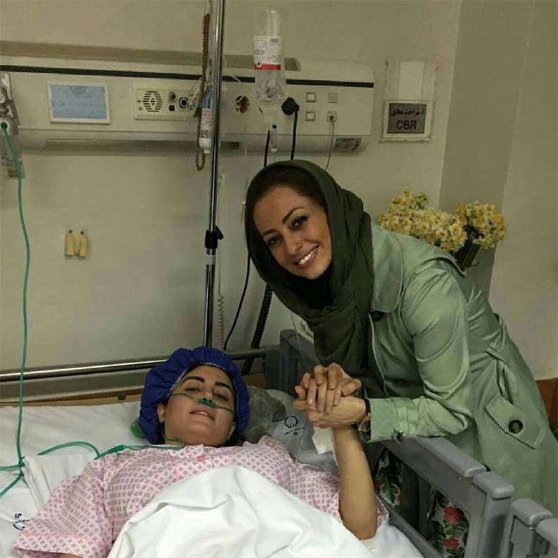 عیادت خانم بازیگر از الناز شاکردوست در بیمارستان + عکس