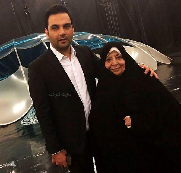 احسان علیخانی به همراه مادرش + عکس