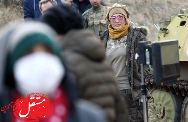 زهره فکور صبور در جبهه جنگ + عکس