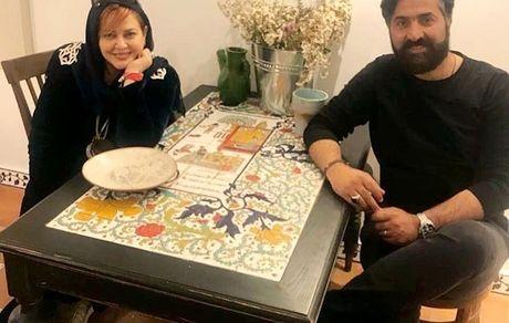 بهاره خانم و شوهرش در کنار هم + عکس