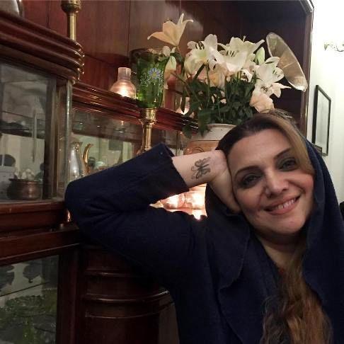 تاتوی جالب روی دست بازیگر زن ایرانی (عکس)