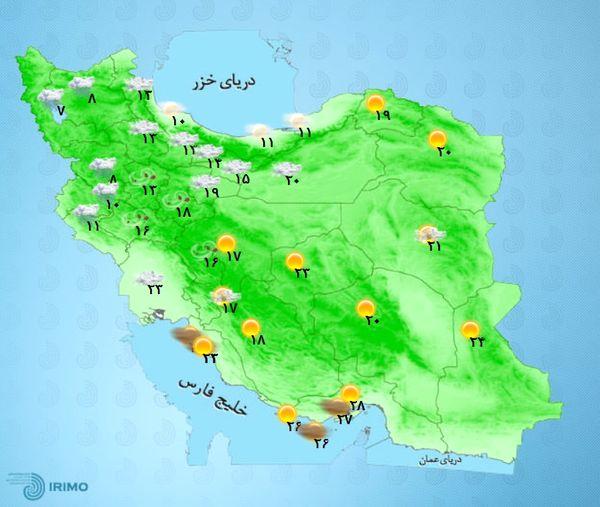 پیش بینی بارش باران در کشور