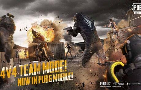 حالت جدید بازی 4v4 و گودزیلا به PUBG Mobile اضافه شدند