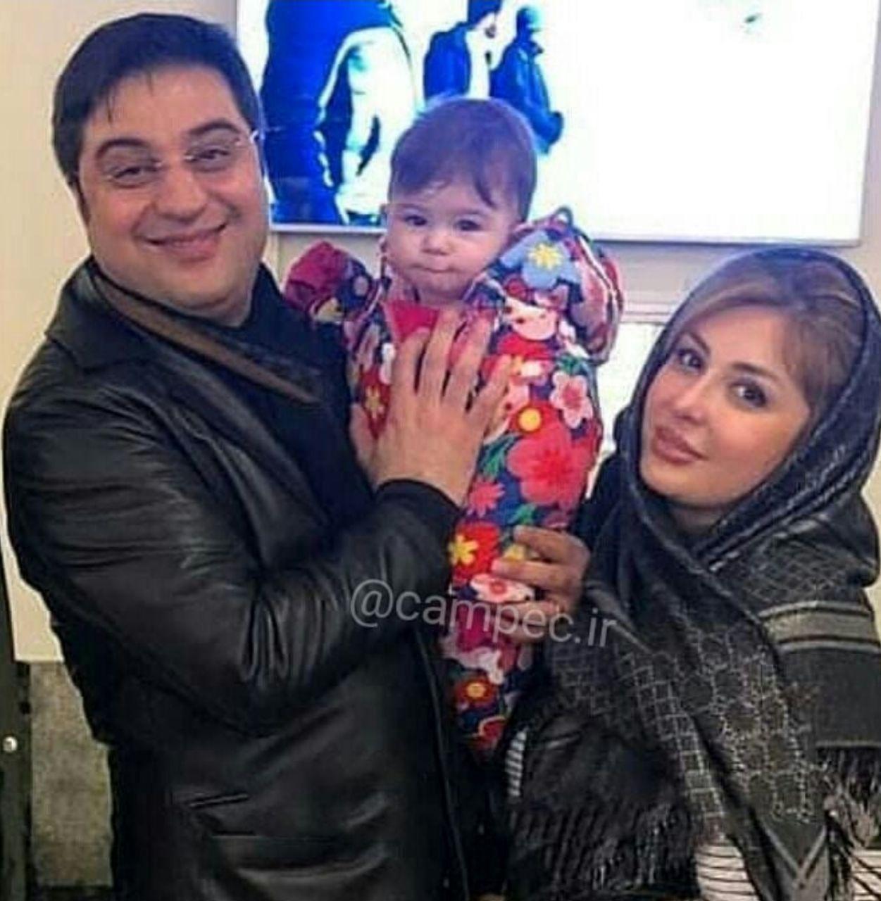 نیوشا ضیغمی، همسر و دخترش لنا/عکس