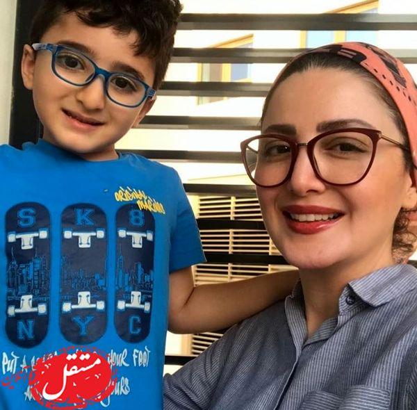 عینکی شدن شیلا خداداد و پسرش + عکس