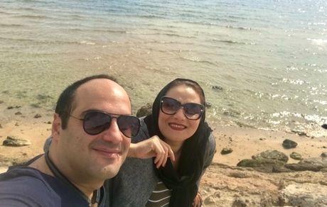 شبنم مقدمی و برادرش لب دریا + عکس