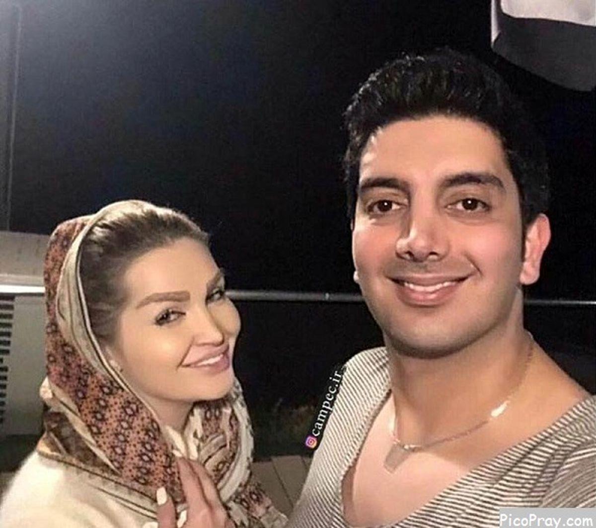 عاشقانه های فرزاد فرزین و همسرش +تصاویر