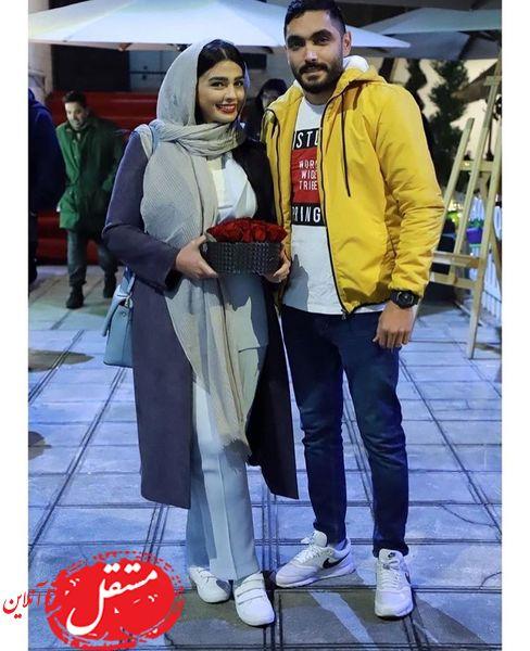 سیما خضرآبادی در کنار همسرش + عکس