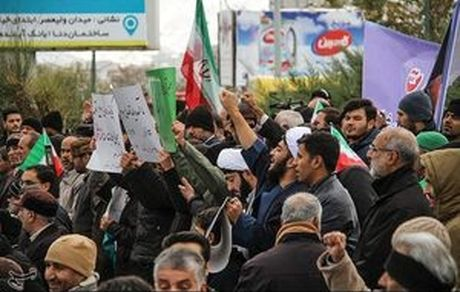 راهپیمایی مردم کرج علیه اغتشاشگران