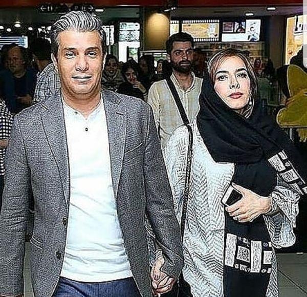 آریا عظیمی نژاد و همسرش دست در دست هم + عکس